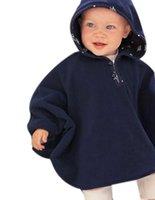 Wholesale Baby Cloak Reversible - Wholesale-Baby Clothing Coat Two-Sided Wear Reversible Children's Cape Outerwear Jacket Velvet Cloak Hoodie