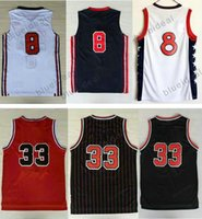 Wholesale Mens Logo Shirts - Free Fast Shipping Scottie Pippen Jersey Cheap Mens Basketball Jerseys Scottie Pippen Shirts New Rev 30 Embroidery Logo and With Player Name
