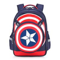 Wholesale kids christmas books - Kids Backpack Backpacks School Bags Schoolbag Captain America Superman Boys Backpacks Shoulders Bag Children Bags Book Bags For Kids 134