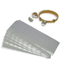 gümüş etiketler toptan satış-800 Adet Gümüş Takı Fiyat Etiket Etiketleri Yüzük Kolye Kağıt Dumbell Kendinden Yapışkanlı Etiketleri