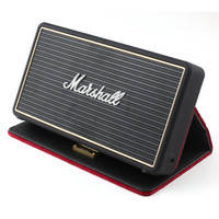 Wholesale Mini Speaker Case - Marshall Stockwell Portable BlueTooth Speaker With Flip Cover Case drop shipping AAA quality