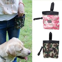Wholesale camouflage dog bag online - Multifunction Camouflage Dog Treat Pouch For Training Walk The Dogs Pockets Pet Garbage Bag Outdoor Snack Bags IC749