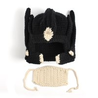 Wholesale Chinese Girl Cosplay - Winter Brave Hero Crochet hats Chinese boy girls children's favorite caps made by hand Spring Autumn Warm masks cosplay