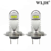 WLJH 800LM 30W Car Light H7 Led ampoule Daytime Running Light DRL phare phare Basse Beam Driving Fog Lampes ampoules 12V - 24V