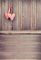 Wholesale Vintage Photography Backdrops - Vintage Wooden Floor Photography Backdrops Vinyl Digital Printed Love Heart Decors Baby Newborn Kids Children Studio Photo Shoot Background