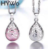 Wholesale Moonlight Silver - HYWo (without chain) Moonlight opal pendant necklace fashion love Trevi Fountain Hypoallergenic jewelry gift for women