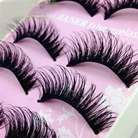 Wholesale Wholesale Eyelashes Good Quality - Natural Thick Criscross Eye Lashes Makeup Handmade Fake Cross False Women Lady Eyelashes Tools 5 Pairs Good Quality