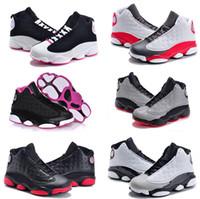 zapatillas de baloncesto en línea al por mayor-Venta en línea Barato New 13 Zapatillas de baloncesto para niños para niñas Zapatillas de deporte para niños Babys 13s zapatillas para correr Tamaño 11C-3Y