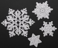 Wholesale Dies For Scrapbooking - Free shipping Brand New 4pcs set Metal Snowflake Christmas Cutting Dies Stencils for DIY Die Cut Stencil Decorative Scrapbooking Craft