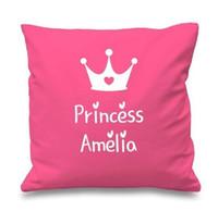 Wholesale princess pillow cases - Pink Princess Crown Pillow Cases 18 x 18 inch Excellent Quality Soft Pillowcase