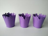 Wholesale nursery pots free shipping resale online - Small Vase Pots pure metal garden bucket tin box Iron pots flower Mini Nursery Pot