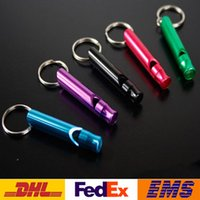 Wholesale survival products for sale - Group buy Whistle Mixed Mini Alloy Keychain Outdoor Survival Whistle Rescue Whistles Dog Training Whistles Outdoor Product Fashion Novelty Gift WX H05