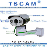 Wholesale micro wired camera audio online - TSCAM SP P1803SZ Pan Tilt Zoom IP Camera ONVIF HD P MP TF Micro SD Card Slot Two Way Audio Line Array IR
