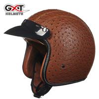 Wholesale Casque Open Face Moto - 2016 GXT casque capacete open face retro motorcycle helmet de motocicleta vintage jet pilot moto helmets DOT approved M L XL XXL
