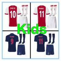 74e8cbae02f 2017 2018 Ajax FC Soccer Jerseys kids kits + socks 17 18 Camisa ZIYECH  KLUIVERT NOURI DOLBERG YOUNES Jerseys Football Shirts