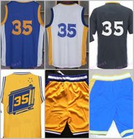 Wholesale Dropshipping S - Stitched Basketballl Jerseys #35 White Blue Black Yellow Jersey accept Mix Order do dropshipping we have all basketball jerseys