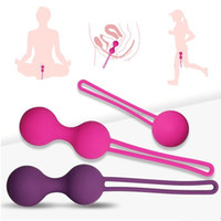 Wholesale Silicon Sex Machine - 3pcs set 100% Medical Silicon Female Smart Ball, Kegel Ben Wa Ball,Vaginal Tight Exercise Machine, Vibrators Vaginal Ball Sex Toys for Women