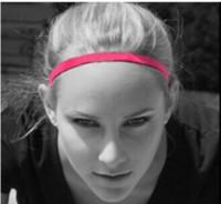 Wholesale Woman Sport 3pcs - 2017Fashion 3pcs Women Men Yoga Boys Football Pure Color Thin Hair Bands Sports Headband Anti-slip Elastic Rubber hair Accessories