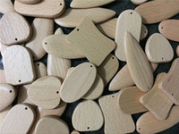 Wholesale Wooden Car Pendant - Beautiful Blank Wooden DIY Keyring Keychain Key Chain Ring Carving Oval Round Square Heart Shape Key Holder Car Pendant