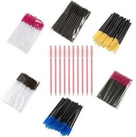 Wholesale Cheap Eyelashes Extensions - Disposable Eyelash Brush Mascara Wands Applicator Makeup Cosmetic Brushes One-off Eyelash Extension Brushes Cheap Price US DHL Free!