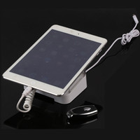 Wholesale Acrylic Display For Tablets - 2pieces Pad Anti Lost Tablet PC Display Acrylic Holder Security Alarm with Tablet Computer Charging Free Shipping