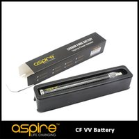 Wholesale E Vv - 100% Original Aspire CF VV Battery for e cigarette ego battery 650mah 900mah 1100mah 1300mah 1600mah variable voltage aspire battery