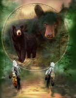 Wholesale Black Bear Wall - Bad Modern Painting Black Bear Giclee Print On Canvas Fantasy Home Decor Wall Art oil Painting Fancy823