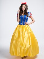 Wholesale Princess Costume Woman Plus Size - Sexy Adult Halloween Dexlue A-Line Dress Princess Costume Snow White Costumes For Women Party Dresses Cosplay Plus Size S-2XL