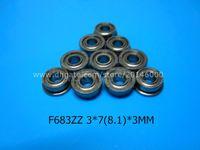 Wholesale flange ball bearings - F683ZZ Flange bearings Free shipping 683 F683Z F683ZZ 3*7&8.1*3mm chrome steel deep groove bearing 3*7&8.1*3