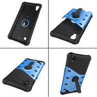 Wholesale case hd lg - For LG G6 X Power X Style Tribute HD LS676 V20 Shockproof 360 Degree Rotary TPU + PC Hard Case Sniper Stand Armor Dual Tone Phone Skin Cover