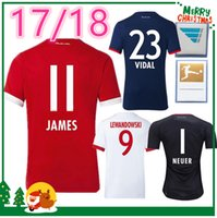 Wholesale Soccer Jersey Goalkeeper - 2017 2018 JAMES VIDAL COATA home away red jerseys 17 18 LEWANDOWSKI MULLER ROBBEN GOTZE BOATENG ALABA Goalkeeper sports shirt