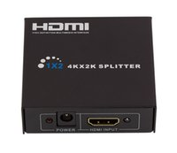 Wholesale Hdtv Ports - HDMI Spliter 2 Port 1.4 Hdmi Splitter 3D 1x2 HDMI Switch DC 9V Adapter 1 In 2 Out Switcher Support HDTV 1080P