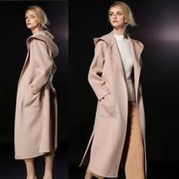 ingrosso cappotti di lana lunghi di signora-capispalla donna in lana x-size 2018 cappotti in cashmere invernale da donna di alta qualità moda cappotti lunghi da donna outwear