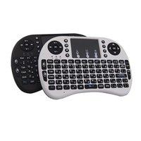 Wholesale Russian Rii Mini I8 - Mini Keyboard Rii i8 Russian English Air Mouse Multi-Media Remote Control Touchpad Handheld for Android TV BOX Notebook Mini PC