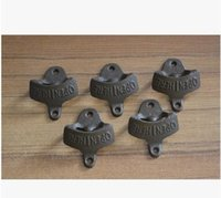 Wholesale Antique Wall Hooks Wholesale - 100pcs Wall Mounted Vintage Antique Bottle Beer Opener Hanging Wall Hook Beer Openers Mount Copper Cap Metal Retro with no screws