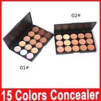 Wholesale Daily Wear - Professional 15 Colors Concealer Foundation Contour Face Cream Makeup Palette Pro Tool for Salon Party Wedding Daily