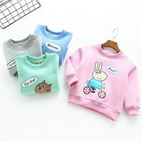 Wholesale Soft Girl Prints T Shirt - Girls cartoon T-shirt Animal print casual boys sweater Soft thickening pullovers for kids children's clothing 2016 autumn tops