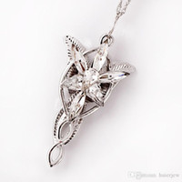 ingrosso pendente evenstar-Collana con ciondolo in argento placcato The Lord of The Film Arwen Evenstar Collana con ciondolo per donna 5 * 3CM Arwen