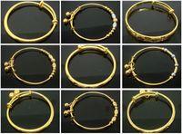 bracelets en or 24k achat en gros de-5 pcs / lot mode haute qualité vente chaude enfants bracelet 24 k GP jolie chance bébé bijoux réglable cadeau bracelet bracelet fabriqué par Environmenta