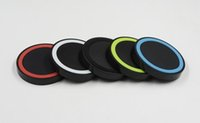 Wholesale Qi Wireless Charger Transmitter Pad - Qi Wireless Charger Transmitter Fast Charging Pad For Qi-abled Device Samsung Galaxy S6 S7 Edge with Retail Package Quick charge version