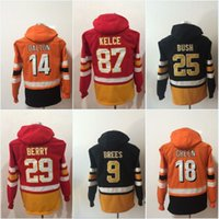 Wholesale Andy Dalton - New 29 Eric Berry 87 Travis Kelce 9 Drew Brees 25 Rafael Bush 18 A.J. Green 14 Andy Dalton Hoodies Jerseys Sweatshirts Jerseys