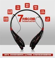 Wholesale Mp3 Sport Headset Memory - HBS S740T sports Bluetooth headset wireless stereo Bluetooth headset FM radio function MP3 player support 32GB TF memory card