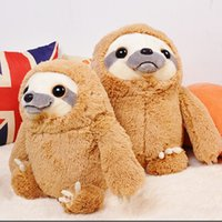 Wholesale cm Kawaii Simulation Sloth Plush Toy Brown Sloth Doll Kids Gifts Christmas Gifts Home Dec