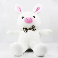Wholesale Free Rabbit Games - Pig Rabbit Doll Toy SBS DRAMA Hot Birthday Christmas Girl Gift 50CM free shipping Retail 1 PCS