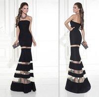 Wholesale Evening Dress Tarik Ediz - Formal Gowns Evening Under 100 2016 Tarik Ediz Black Mermaid Strapless Prom Party Dresses Long Full Length Women Special Occasion Dress