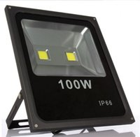 Wholesale Led Reflector 12v - 100W LED Floodlight Waterproof IP65 Reflector Spotlight LED Floodlight with Warm & Cold White for Outdoor Wall LLFA