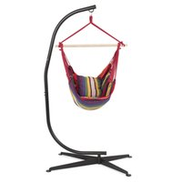 Combo Hammock com C Frame Stand Set Portable Hanging Chair Outdoor Patio Swing