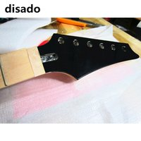 disado 24 Frets inlay dots maple Electric Guitar Neck fingerboard maple madeira cor cabeçote preto Guitar Parts accessories