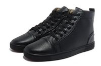 Wholesale Designer Menswear - 2017 new menswear leather high fashion red shoes, hobbyist designer luxury casual shoes