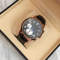 relógio de vestido de banda de couro preto venda por atacado-2017 top marca de quartzo relógio de luxo homens dress relógios relógios de pulso de couro moda casual relógios preto / brown band frete grátis com caixa